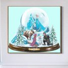 counted cross stitch pattern frozen glitter globe pdf 296x257 stitches BN2177