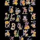 Counted cross stitch pattern alphabet winnie characters 348*499 stitches E1841