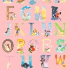 counted cross stitch pattern disney alphabet 311*448 stitches pdf file E1647