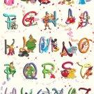 counted cross stitch pattern disney alphabet 328*447 stitches pdf file E828