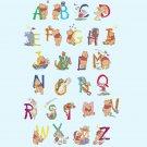 Counted cross stitch pattern alphabet winnie characters 330*504 stitches E1839