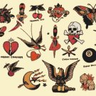 counted cross stitch pattern born live died free tatoo 377x268 stitches E1734