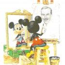 Counted Cross Stitch pattern Mickey's mouse portrait 175*235 stitches E904
