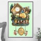 counted cross Stitch Pattern snow white cuckoo clock 243*368 stitches BN2161