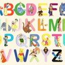 counted Cross Stitch Pattern alphabet disney characters 323 x 233 stitches E464