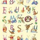 Counted cross stitch pattern alphabet winnie characters 315*391 stitches E1439
