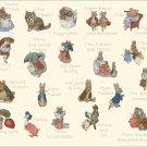 Counted cross Stitch Pattern beatrix potter characters 431*362 stitches E1117