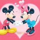 counted Cross stitch pattern Mickey and Minnie in love 216*172 stitches E439
