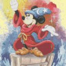 counted Cross stitch pattern disney Mickey fantasia 193*262 stitches E1862