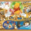 Counted cross stitch winnie the pooh party scene pdf  441 x 303 stitches E1725