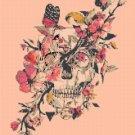 counted Cross stitch pattern sugar skull butterlfy 165x224 stitches E932