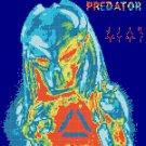 counted Cross Stitch Pattern predator movie logo 146x154 stitches E1892