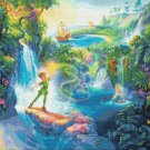 counted Cross stitch pattern Peter Pan in Neverland 495 x 371 stitches E805