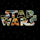 counted cross stitch pattern Star wars logo pdf chart 204x156 stitches E1036