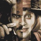 Counted Cross Stitch pattern Johnny Depp actor pdf 220x167 stitches E1730
