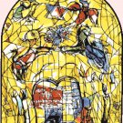 counted cross stitch pattern chagall levi window stained 276x354 stitches E1358