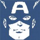 counted cross stitch pattern marvel captain america 99x98 stitches E905