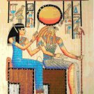 counted cross stitch pattern Horus queen egyptian papyrus 248*343 stitches E961