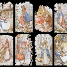 counted cross stitch pattern eight scene bunny B. Potter 322x268 stitches E943