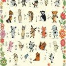 Counted cross stitch pattern alphabet characters pet 331 * 550 stitches E1372