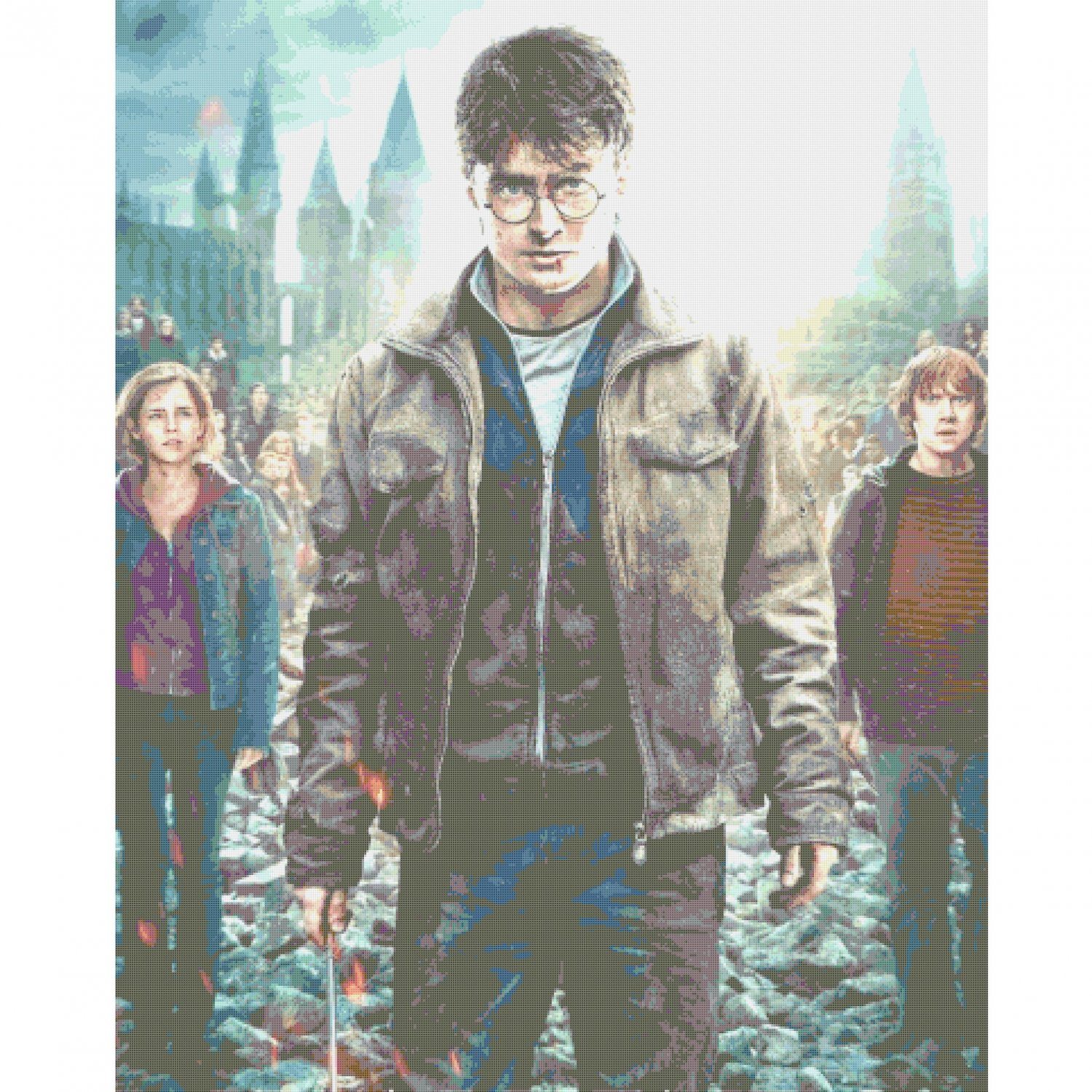 Counted Cross Stitch Pattern Harry Potter It all ends 386x483 stitches E155