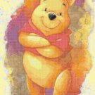Counted Cross Stitch winnie the pooh party watercolor 165x255 stitches E1921