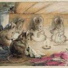 Counted Cross Stitch pattern mice at work by B. potter 220x184 stitches E944