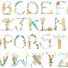 Counted cross stitch pattern teddy bear characters 430x305 stitches E834