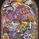 counted cross stitch pattern nintendo zelda stained glass 276x367 stitches E1060