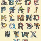 counted cross stitch pattern alphabet marvel ABC chart 376x478 stitches E1544