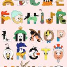 counted Cross stitch pattern Alphabet Thats Folk ABC 279x401 stitches E992