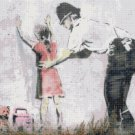 Counted Cross Stitch pattern banksy level of threat 276x197 stitches E1822