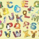 Counted cross stitch pattern alphabet with animal 294x212 stitches E959