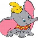 counted cross stitch pattern dumbo disney elephant 166*151 stitches E096