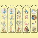 Counted cross Stitch Pattern 5 bookmark scenes potter 270*203 stitches E1830