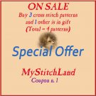 SPECIAL OFFER - BUY - 3 - PATTERNS -> GET - 1 - PATTERN - FREE (Total = 4 patterns)