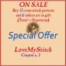 SPECIAL OFFER - BUY - 12 - PATTERNS -> GET - 6 - PATTERNS - FREE (Total = 18 patterns)