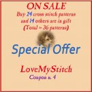 SPECIAL OFFER - BUY - 24 - PATTERNS -> GET - 14 - PATTERNS - FREE (Total = 36 patterns)