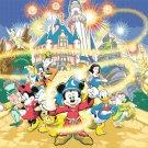 counted cross stitch pattern Disney magic puzzle pdf 496*372 stitches E079