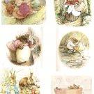 counted cross stitch pattern six scene bunny B. Potter 386*511stitches E1146