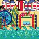 counted Cross Stitch Pattern london mini map view 178*133 stitches E1268
