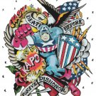 counted cross stitch pattern captain america stained 264*343 stitches E1672