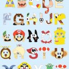 Cross Stitch Pattern Super mario bros abc alphabet 222 * 279 stitches E846