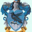 counted Cross Stitch Pattern potter Ravenclaw coat 134*166 stitches E1457