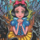 counted Cross stitch pattern Snow white stained 192 * 236 stitches E2217