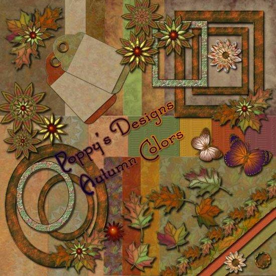 Autumn Colors Digital Scrapbooking Kit