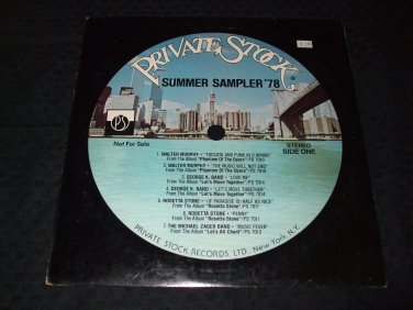 PRIVATE STOCK SUMMER SAMPLER 78 ~ VARIOUS ARTIST / NICE / RARE