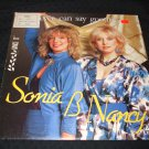 "SONIA & NANCY ~ NEVER CAN SAY GOODBYE 12 "" RARE NEAR MINT"