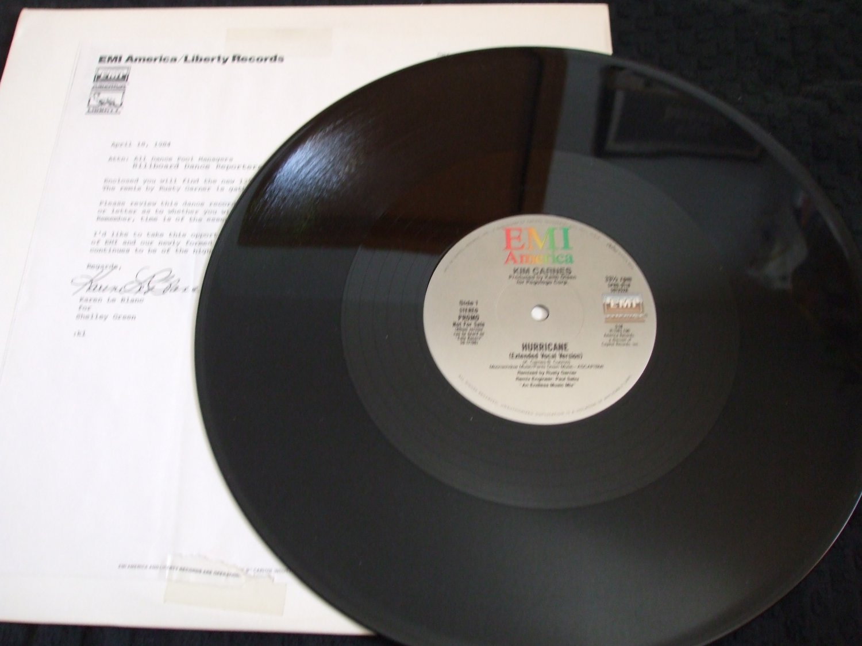 "KIM CARNES ~ HURRICANE 12"" RARE PROMO WITH COVER LETTER../ MINT"