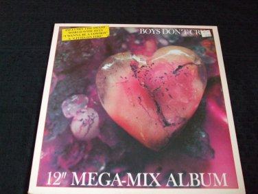 "BOYS DON'T CRY ~ 12"" MEGA-MIX LP RARE/ NEVER PLAYED/NEW/ MINT"